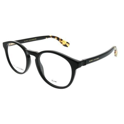 Marc Jacobs Round Marc 352 807 Unisex Black Frame Eyeglasses