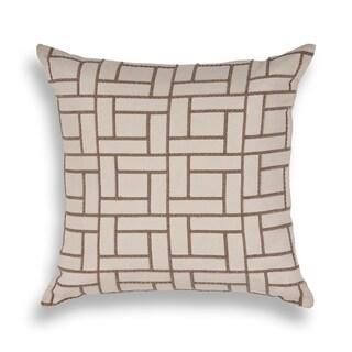 Tan Brick By Brick 20 x 20 Pillow