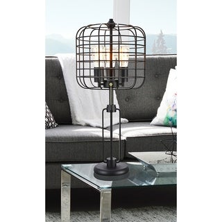Industrial Cage 3 Light Edison Table Lamp 26.5 In.