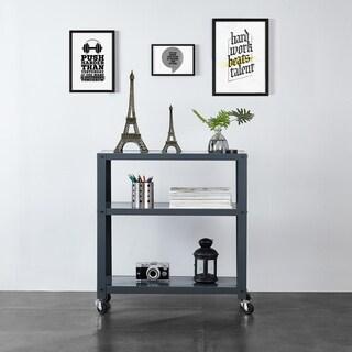 3-Tier Metal Bookcase