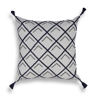 The Curated Nomad Rodman Navy Square 20-inch Pillow