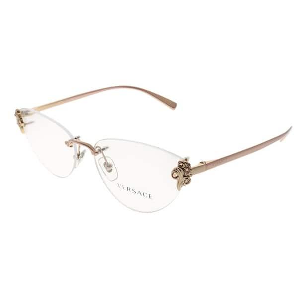 f7b0bf8fc9c6 Shop Versace Rimless VE 1254B 1429 Women Pink Frame Eyeglasses ...