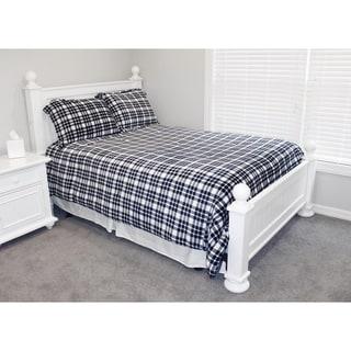 Thro Cassidy Classic Plaid Flannel Fleece Comforter Set