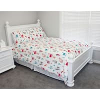 Thro Larry Llama Flannel Fleece Twin Comforter Set