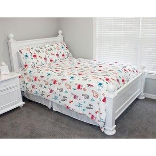 Thro Larry Llama Flannel Fleece Twin Comforter Set