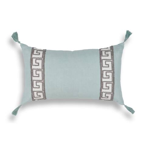 Sea Greek Key 12 x 20 Pillow