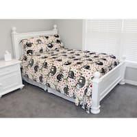 Thro Seth Sloth Flannel Fleece Comforter Set