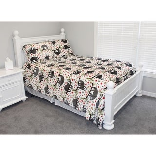 Thro Seth Sloth Flannel Fleece Comforter Set