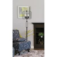 Industrial Cage 3 LIght Edison Floor Lamp 63 In.