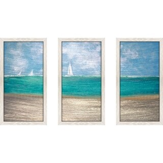 """Catching The Wind"" by Susan Jill Print on Acrylic Set of 3 - Blue"