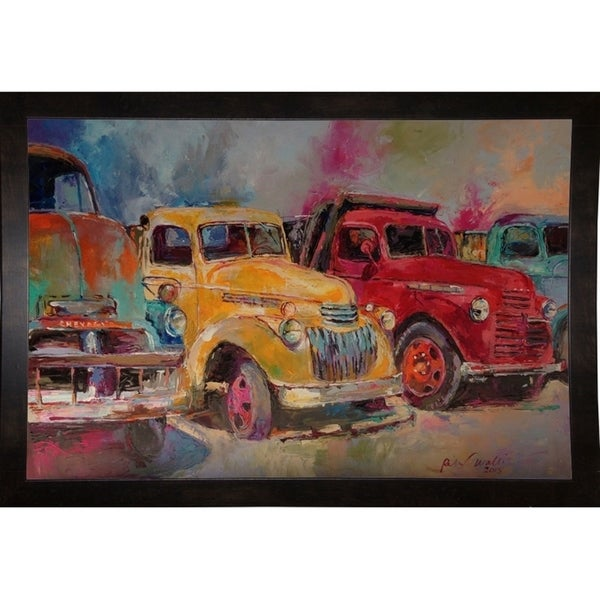 "Trucks In Montrose-RICWAL141554 Print 6.5""x9.5"" by Richard Wallich"