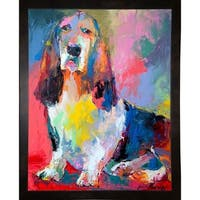 "Basset Hound-RICWAL141545  Print 8""x6.25"" by Richard Wallich"