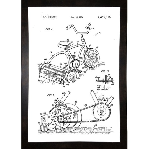"""Pedal Operated Mower, No Fossil Fuels Used -PRIPUB129097 Print 11.25""""x7.75"""" by Print Collection"""
