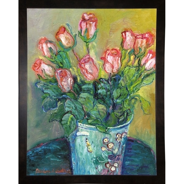 """Flowers in a Vase-RICWAL34356 Print 9.75""""x7.5"""" by Richard Wallich"""