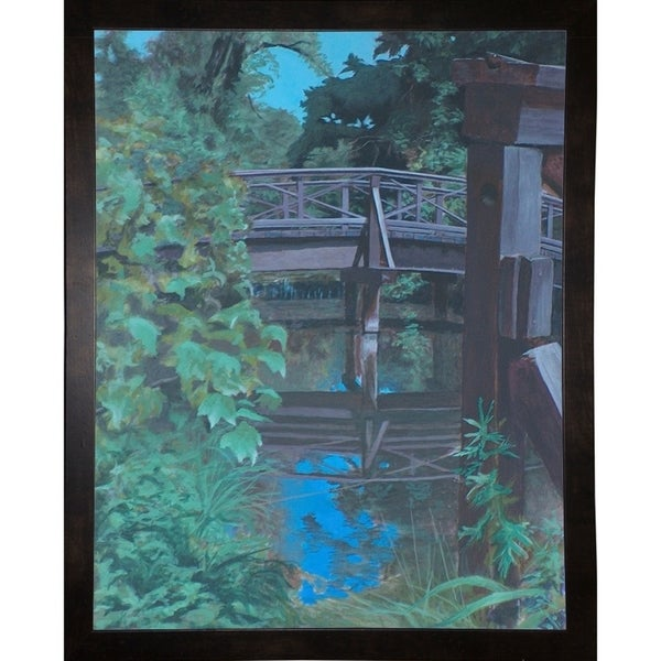 "Pleir Bridge Reflections-RUSFRE98536 Print 14""x11"" by Rusty Frentner"