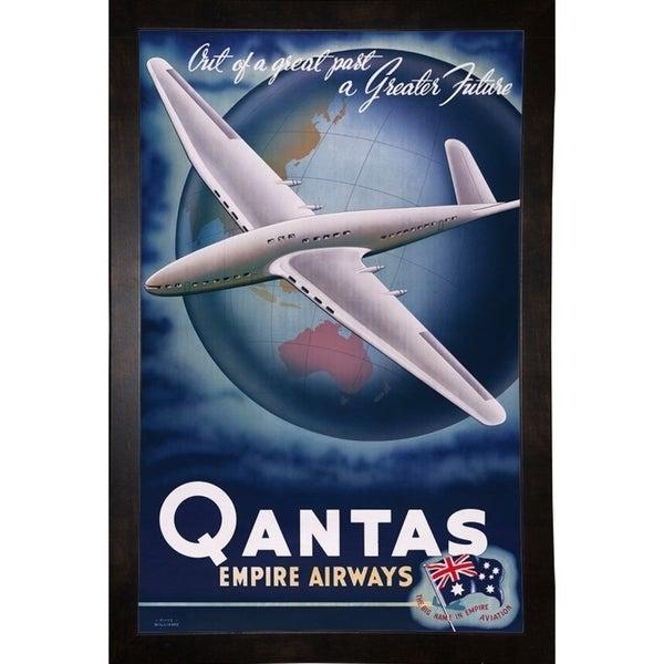 "Quantas Empire Airways-PRIPUB131024 Print 26""x16.5"" by Print Collection"