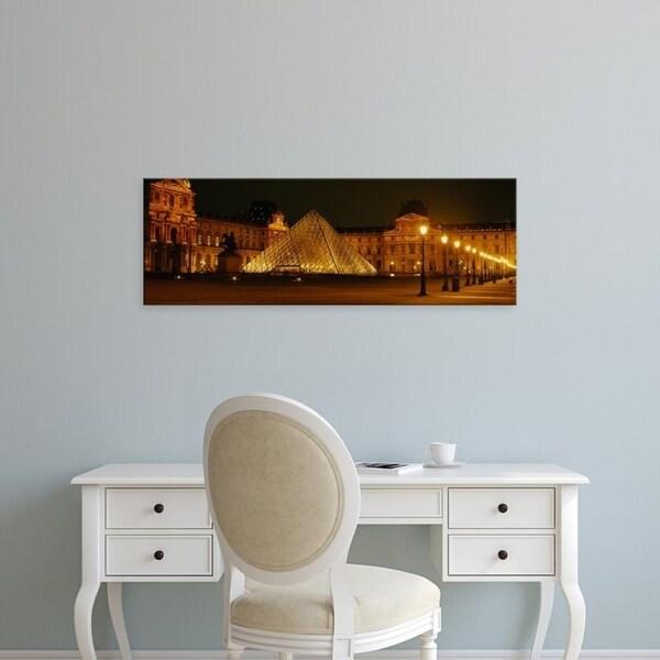 Easy Art Prints Panoramic Images's 'Louvre Paris France' Premium Canvas Art