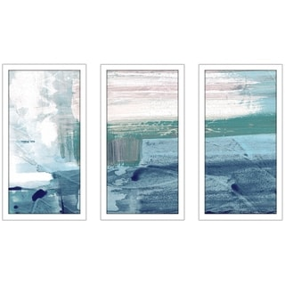"""Miss The Sea IV"" by Susan Jill Print on Acrylic Set of 3 - Blue"