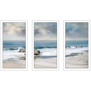 """A Forever Moment"" by Mike Calascibetta Print on Acrylic Set of 3 - Blue"