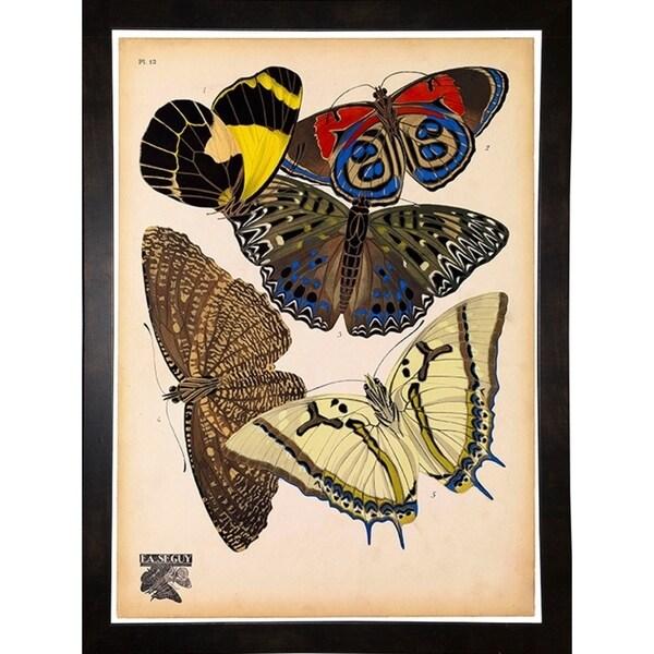 "Butterflies Plate 3, E.A. Seguy-PRIPUB130827 Print 10""x7.25"" by Print Collection"