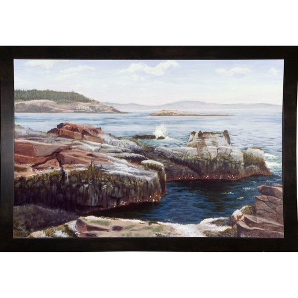 "Thunder Hole-RUSFRE1087 Print 12.25""x18.25"" by Rusty Frentner"