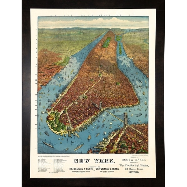 """Aerial Map for Root & Tinker of New York-PRIPUB131087 Print 26""""x19.25"""" by Print Collection"""