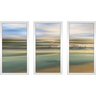 """Topaz Light"" by Mike Calascibetta Print on Acrylic Set of 3 - Blue"