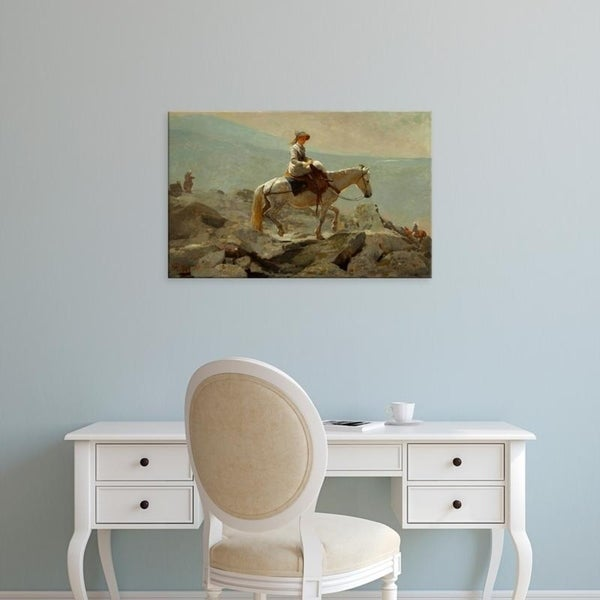 Easy Art Prints Winslow Homer's 'The Bridle Path' Premium Canvas Art