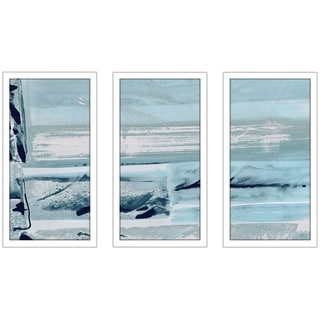 """Miss The Sea III"" by Susan Jill Print on Acrylic Set of 3 - Blue"