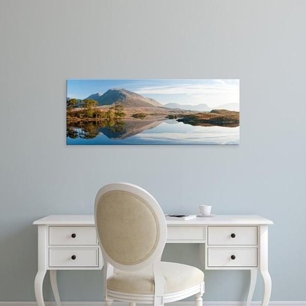 Easy Art Prints Panoramic Images's 'Lake at dawn, Derryclare Lake, Connemara, County Galway, Ireland' Premium Canvas Art