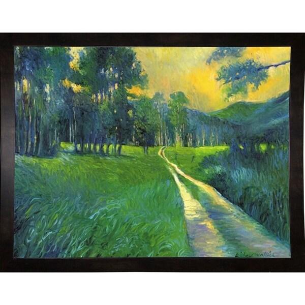 """Crestone Path-RICWAL34340 Print 11.25""""x14.75"""" by Richard Wallich"""