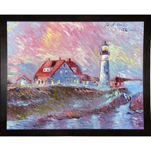 "Lighthouse-RICWAL34345 Print 10.75""x13.5"" by Richard Wallich"