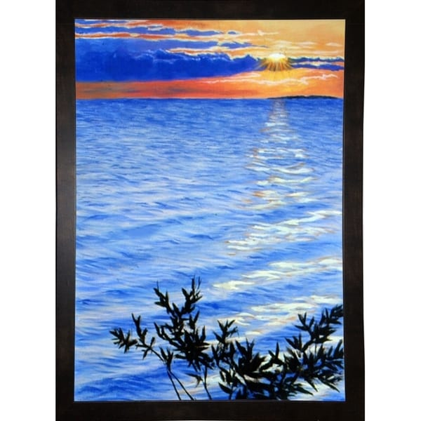 """Sunset At Domogo Bay-RUSFRE111 Print 18.25""""x13"""" by Rusty Frentner"""