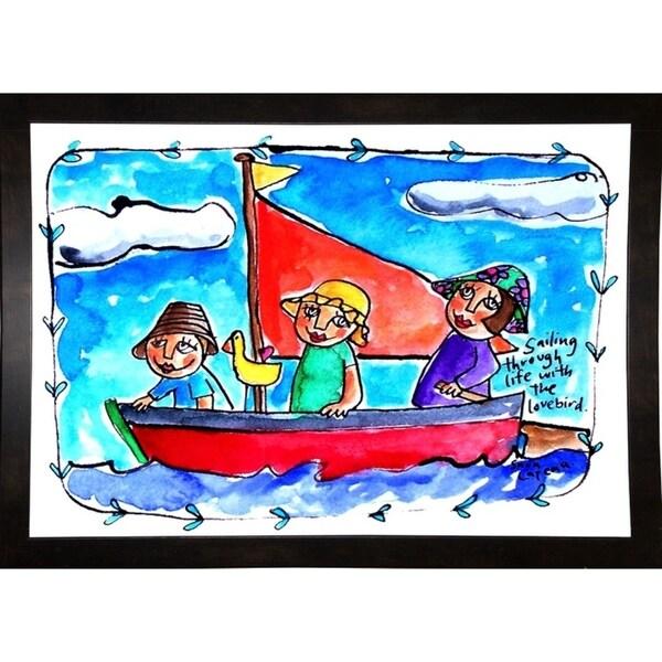 """Watercolour Planet"" Childhood Moments 3-SARCAT104724 Print 6""x8.75"" by Sara Catena"