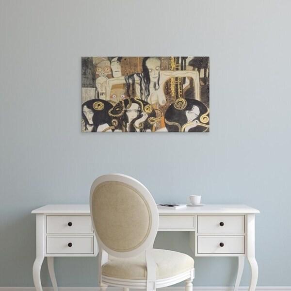 Easy Art Prints Gustav Klimt's 'Gorgons' Premium Canvas Art