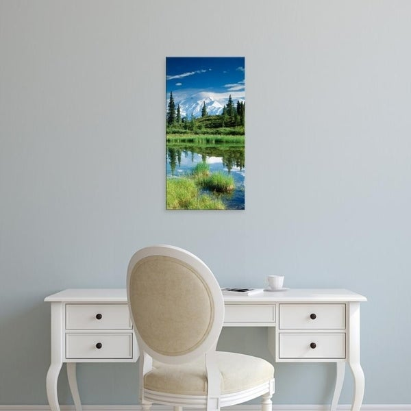 Easy Art Prints Panoramic Images's 'USA, Alaska, Mount McKinley' Premium Canvas Art