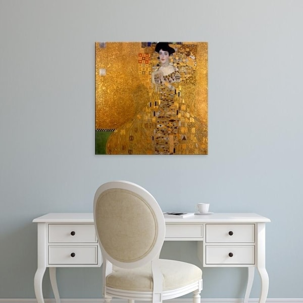 Easy Art Prints Gustav Klimt's 'Adele Bloch-Bauer' Premium Canvas Art