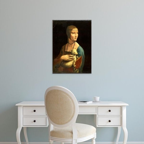 Easy Art Prints Leonardo da Vinci's 'Portrait of Cecilia Gallerani (Lady with the Ermine)' Premium Canvas Art