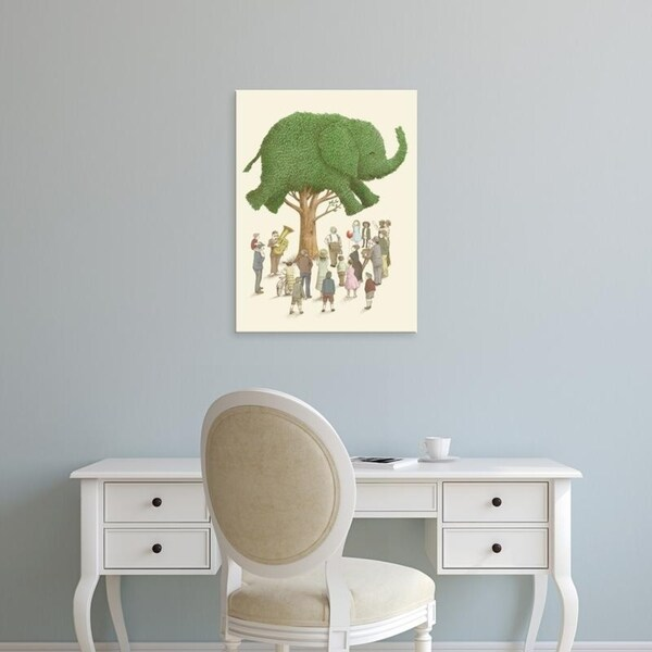 Easy Art Prints Terry Fan's 'Elephant Tree' Premium Canvas Art