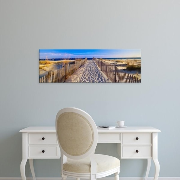 Easy Art Prints Panoramic Images's 'Pathway and sea oats on beach at Santa Rosa Island near Pensacola, Florida' Canvas Art