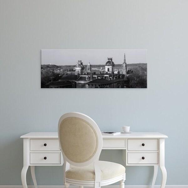 Easy Art Prints Panoramic Images's 'Buildings in Dubuque, Dubuque County, Iowa, USA' Premium Canvas Art