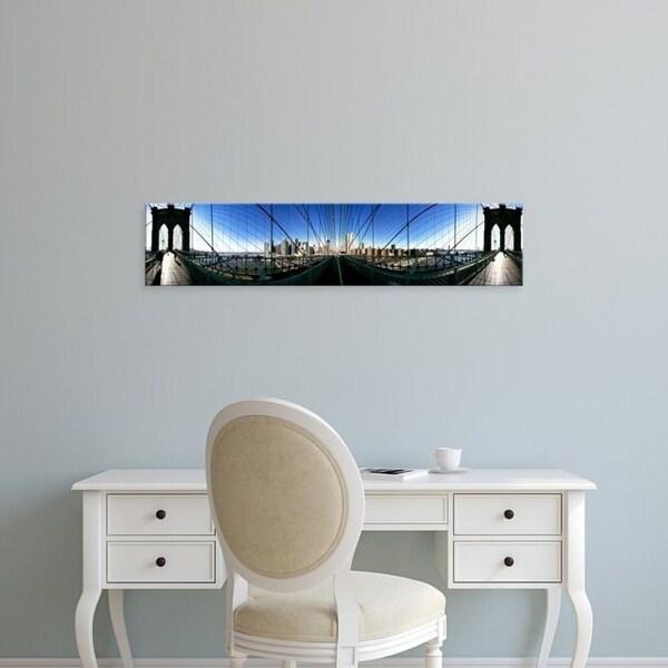 Easy Art Prints Panoramic Images's '360 degree view, Brooklyn Bridge, East River, Brooklyn, New York City, New York' Canvas Art