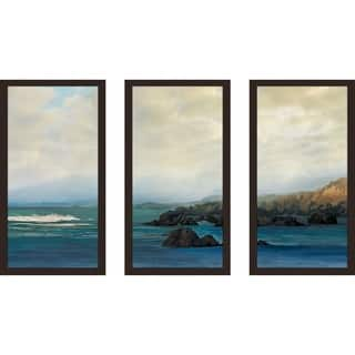 """Distant Horizons"" by Mike Calascibetta Print on Acrylic Set of 3 - Blue"