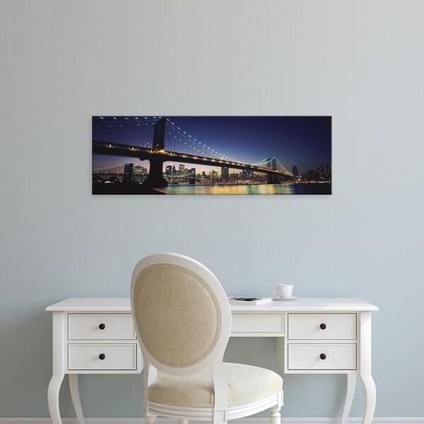 Easy Art Prints Panoramic Images's 'Manhattan Bridge, Lower Manhattan, New York City, New York' Canvas Art