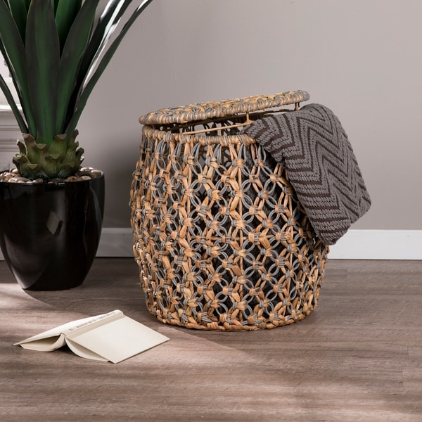 The Curated Nomad Terraza Water Hyacinth Storage Table