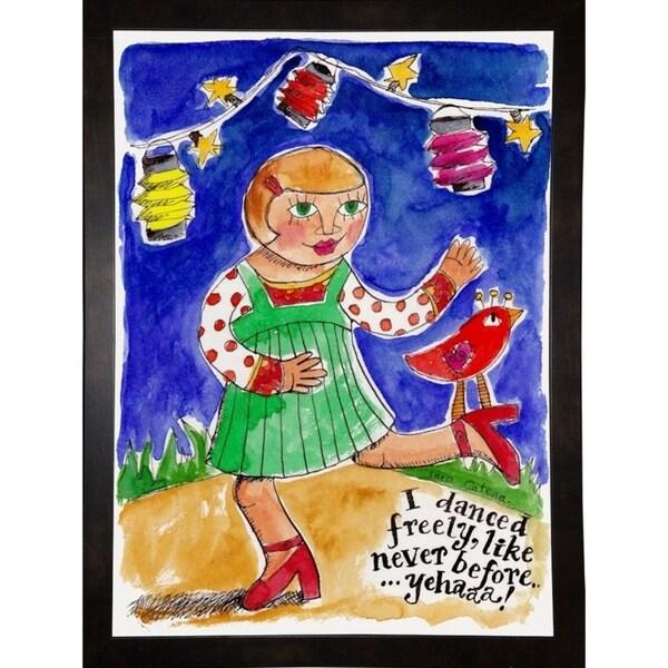 "Watercolour Planet'' - I Danced-SARCAT105169 Print 25.75""x18.75"" by Sara Catena"