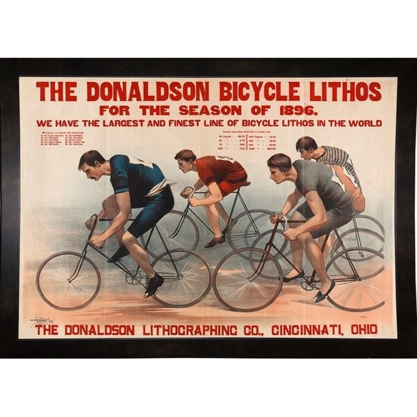 "Donaldson Bicycle Lithos for 1896 Season-PRIPUB130976 Print 12""x17.25"" by Print Collection"