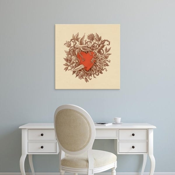 Easy Art Prints Terry Fan's 'Heart Of Thorns' Premium Canvas Art