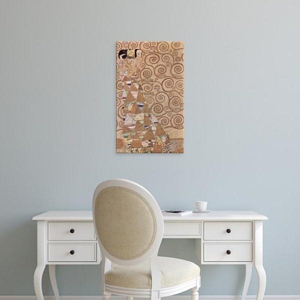 Easy Art Prints Gustav Klimt's 'The Expectation' Premium Canvas Art