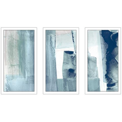 """Miss The Sea II"" by Susan Jill Print on Acrylic Set of 3 - Blue"